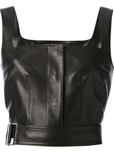 ALEXANDER MCQUEEN Cropped Leather Tank