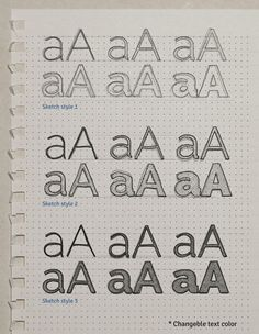 Sketch Text Effect PSD | GraphicBurger