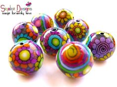 Colorful Polymer Clay Beads