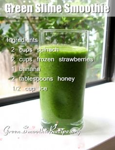 #Green Slime #Smoothie #Recipe from http://greensmoothierecipe.org/green-slime-smoothie-recipe/