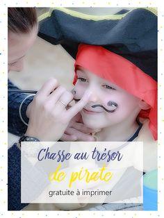 Chasse au trésor de pirate, kit gratuit, à imprimer. Activité pour enfants. Animation pour un anniversaire d'enfant. tiDudi