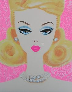 Textiles, Barbie Collection, Vintage Barbie, Pop Art, Pin Up, Disney Characters, Fictional Characters, Aurora Sleeping Beauty, Hollywood