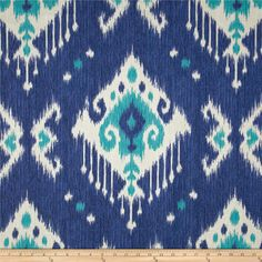 Magnolia Home Fashions Dakota Ikat Ocean 8.98