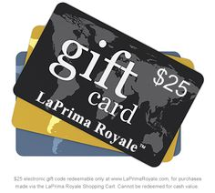 Win a $25 LaPrimaRoyale.com Gift Certificate. LaPrima Royale is Your Specialty Shopping Site. #LaPrimaRoyale