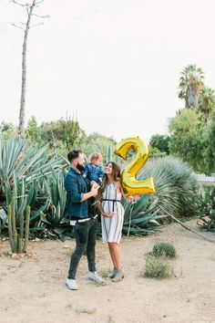 Summer Pregnancy Announcement for Second Baby. Baby Number 2 + Desert Scenery + Cactus + Succulent + Arboretum + SoCal