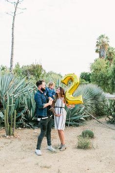 Summer Pregnancy Announcement for Second Baby. Baby Number 2 + Desert Scenery + Cactus + Succulent + Arboretum + SoCal
