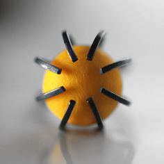 Contemporary silver ring. Yellow polymer by RitaRodnerJewellery, £35.00