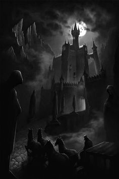 Online digital art gallery of best pictures and photos from portfolios of digital artists. Manually processing and aggregation artworks into the thematic digital art galleries. Gothic Castle, Dark Castle, Fantasy Castle, Vampire Castle, Dracula Castle, Dark Gothic, Gothic Art, Dark Fantasy Art, Dark Art