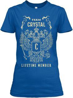 Team Crystal Lifetime Member Royal T-Shirt Front
