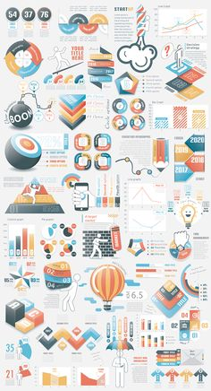 Infographic Bundle (v.6) contains 3 sets of infographic elements with 40% discount (v.16, 17, 18 have a look at links below). This template contains fully vector graphic objects. If you buy this bundle template be sure that you have enough knowledge to ed…