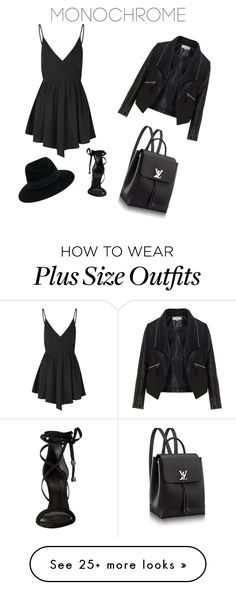 """""""Back to black"""" by explorer-14544320899 on Polyvore featuring Glamorous, Zizzi…"""