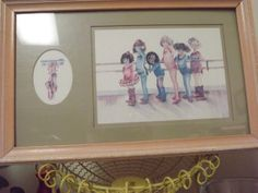 Treasury Vintage Framed Ballerina Picture Child by TreasuresFromUs