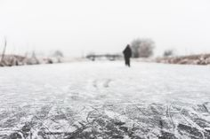 People Ice Skate on a Frozen River Free Stock Photo Download | picjumbo