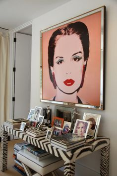 """Carolina Herrera's office.  I've been wanting to paint my little entry table and now I am going for it!  (although it will probably be more like """"Mckinsey Childs"""" art."""
