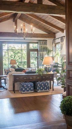 56 gorgeous farmhouse living room design decor ideas home 48 Coastal Living Rooms, Home Living Room, Living Room Designs, Living Room Decor, Living Spaces, Small Living, Modern Living, Living Area, Luxury Living