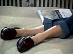 """Grace Kelly in Hitchcock's """"Rear Window"""" (both loafers and movie are favourites of mine)"""