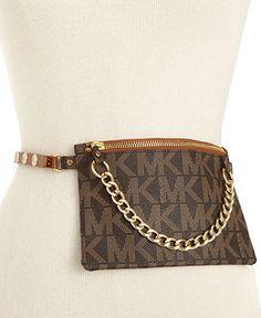 MICHAEL Michael Kors Belt, MK Logo Belt Bag   Handbags & Accessories - Macy's