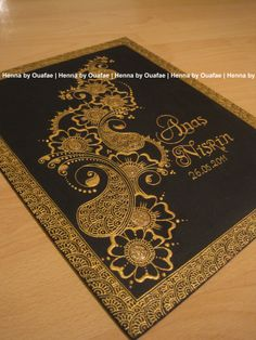 Gold canvas by Henna by Ouafae Henna Canvas, Gold Canvas, Diy Canvas Art, Lace Painting, Dot Art Painting, Hena Designs, Mehndi Designs, Henna Patterns, Tangle Patterns