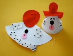 Dalmatian Firefighter Party Hat Template