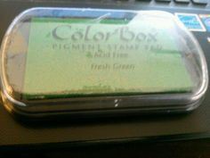 Color Box Fluid Chalk Ink Pad Fresh Green #Clearsnap