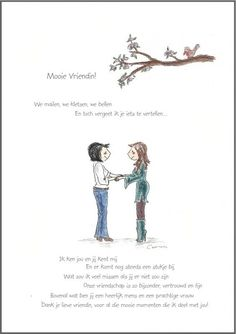 Wenskaart `Mooie Vriendin` Bff Quotes, Friendship Quotes, Great Quotes, Qoutes, Love Quotes, Inspirational Quotes, Dream Book, Sister Love, One Liner