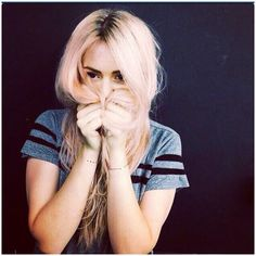 Gemma's so pretty. She can pull off any hair color.