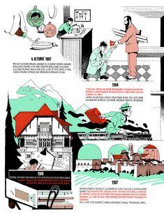 Infografía de la vida de Le Corbusier por Vincent Mahé | Infographic 1 | Life of Le Corbusier |