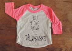 Hot Pink and White Children's You Belong Among the by milliedot $18