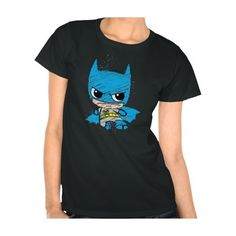 Chibi Batman Sketch Tee Shirt (39 CAD) ❤ liked on Polyvore featuring tops and t-shirts