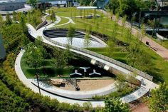 New urban landscape architecture parks james darcy ideas Modern Landscape Design, Landscape Architecture Design, Landscape Plans, Modern Landscaping, Urban Landscape, Landscaping Software, Landscape Architects, Garden Landscaping, Landscaping Ideas