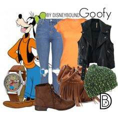 Goofy by leslieakay on Polyvore featuring Free People, Topshop, Breckelle's, Mix No. 6 and Disney