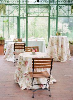 Pretty floral table cloths