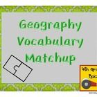 Geography Vocabulary Match Up $