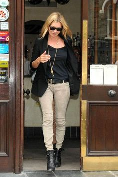Kate Moss at Lemonia Restaurant
