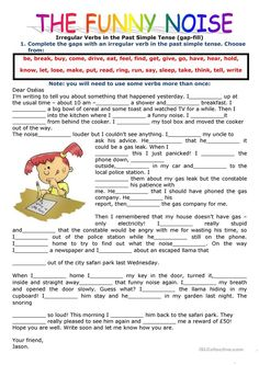 PAST SIMPLE TENSE: FILLING IN THE GAPS USING THE VERBS IN THE PAST SIMPLE  worksheet - Free ESL printable worksheets made by teachers