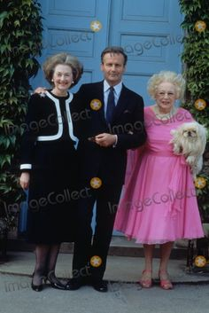 Countess Raine Spencer with Jean Francois DE Chambrun and Dame Barbara Cartland 1993 Photo Alpha-Globe Photos, Inc.