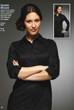 Yasmin Blouse,full brochure can be downloaded here http://www.workuniformsdirect.com/businesswear  #workuniformsdirect #uniform #corporate #business #fashion