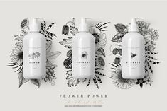 Ad: FLOWER POWER botanical illustrations by Sophia J Caldwell on Introducing FLOWER POWER, a modern botanical collection of 55 hand-drawn illustrations, 6 pre-made arrangements and 18 patterns in vector Skincare Packaging, Cosmetic Packaging, Brand Packaging, Packaging Design, Beauty Packaging, Web Design, Botanical Illustration, Graphic Illustration, Photoshop Illustrator