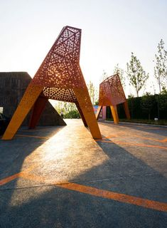 Fengming Mountain Park by Martha Schwartz Partners « Landscape Architecture Works Contemporary Landscape, Urban Landscape, Landscape Art, Landscape Architecture, Landscape Design, Landscape Elements, Hydrangea Landscaping, Landscaping Trees, Farmhouse Landscaping