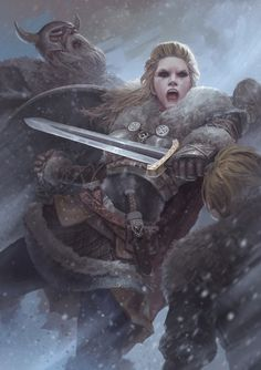 vikings-brasil:   Lagherta the shield maiden  Wife of Ragnar Lodbrok