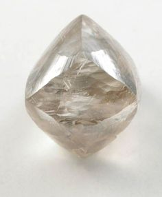 Diamond (1.79 carat brownish-gray octahedral crystal) from Vaal River Mining District, Northern Cape Province, South Africa