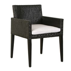 Bali Collection armchair in black color natural rattan by iBalDesigns, Bali