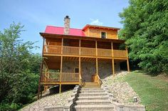 Aint No Mtn High Enough - Says it all about the gorgeous mountain view you will experience from this cabins deck.