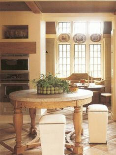 Bill ingram kitchen- love the table and stools