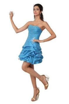 Winey Bridal Blue Short Taffeta Pick up New Birthday Party Evening Dresses Strapless Corset Gowns:$99.99 + $16.00 shipping
