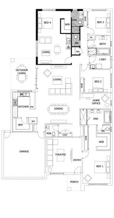 Home Renovation Planning Interesting concept Providence New House Plans, Dream House Plans, House Floor Plans, Home Remodeling Diy, Home Renovation, Beautiful Interiors, Beautiful Homes, House Beautiful, Home Design Floor Plans
