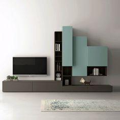 Modern living room TV unit for elegant contemporary interior design Contemporary Tv Units, Modern Tv Units, Contemporary Interior Design, Contemporary Furniture, Modern Design, Tv Ikea, Living Room Tv Unit, Tv Unit Design, Elegant