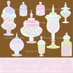 Jars for the candy buffet