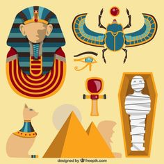 More than 3 millions free vectors, PSD, photos and free icons. Exclusive freebies and all graphic resources that you need for your projects Ancient Egypt Activities, Ancient Egypt For Kids, Ancient Egypt Display, Egyptian Symbols, Ancient Egyptian Art, Egypt Crafts, Map Quilt, Egypt Culture, Egypt Fashion