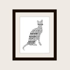 Crazy Cat Lady typographic print. by PepperDoodles on Etsy